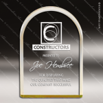 Acrylic Gold Accented Arch Circle Reflective Award Employee Trophy Awards