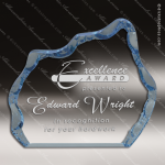 Acrylic Blue Accented Iceberg Award Employee Trophy Awards