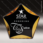 Acrylic Gold Accented Luminary Star Award Employee Trophy Awards