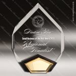 Acrylic Gold Accented Marquis Diamond Award Employee Trophy Awards