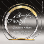 Acrylic Gold Accented Round Circle Halo Award Employee Trophy Awards