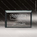 Acrylic  Jade Accented Rectanle Paperweight Award Employee Trophy Awards