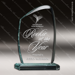 Acrylic  Jade Accented Wave Award Employee Trophy Awards