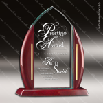 Acrylic  Rosewood Accented Peak Award Employee Trophy Awards