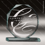 Acrylic  Jade Accented Octagon Award Employee Trophy Awards
