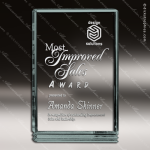 Acrylic  Jade Accented Rectangle Classic Series Award Employee Trophy Awards