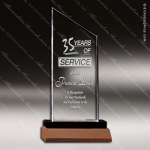 Acrylic  Walnut Accented Zenith Summit Award Employee Trophy Awards