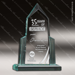 Acrylic  Jade Accented Spire Award Employee Trophy Awards