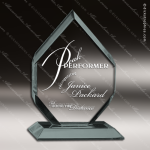 Acrylic  Jade Accented Diamond Award Employee Trophy Awards