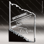 Acrylic Black Accented Sculpted Mountain Award Employee Trophy Awards