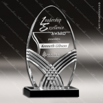 Acrylic Black Accented Nile Tower Award Employee Trophy Awards