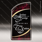 Acrylic Red Accented Marbleizedized Rectangle Curve Trophy Award Employee Trophy Awards