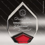 Acrylic Red Accented Marquis Diamond Award Employee Trophy Awards
