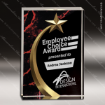 Acrylic Red Accented Marbleizedized Shooting Star Trophy Award Employee Trophy Awards
