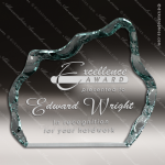Acrylic  Jade Accented Iceberg Award Employee Trophy Awards