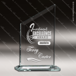 Tabour Zenith Glass Jade Accented Peak Trophy Award Employee Trophy Awards