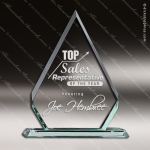 Tabour Point Glass Jade Accented Diamond Arrowhead Trophy Award Employee Trophy Awards