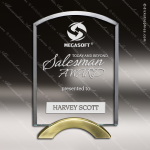 Tantalum Arch Glass Gold Accented Trophy Award Employee Trophy Awards