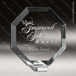Octagon Glass Jade Accented Trophy Award Employee Trophy Awards