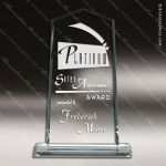 Pachello Ascent Glass Jade Accented Tower Trophy Award Employee Trophy Awards