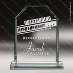 Pachello Monarch Glass Jade Accented Rectangle Trophy Award Employee Trophy Awards