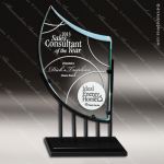 Maccord Peak Glass Black Accented Deco Theme Trophy Award Employee Trophy Awards