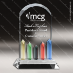 Machover Dome Glass Blue Accented Art Trophy Award Employee Trophy Awards