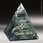 Crystal Green Marble Accented Vernita Summit Trophy Award Employee Trophy Awards
