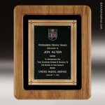 Walnut Frame Plaque with Antique Bronze Frame Employee Trophy Awards