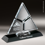Crystal Black Accented Amour Trophy Award Employee Trophy Awards