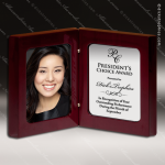 Engraved Rosewood High Gloss Photo Book Plaque Trophy Award Engraved Desk Photo Frames