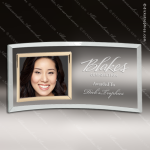 The Jeffrey Engraved Jade Glass Photo Picture Frame Gold Border Etched Lett Engraved Glass Photo Frames