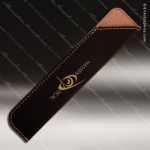 Engraved Leather Wrapped Pen Sleeve Black/Gold Engraved Leather Pen Cases