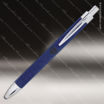 Engraved Leather Wrapped Blue Pen Engraved Leather Wrapped Writing Pens