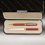 Gift Desk Rosewood Finished Pen Letter Opener Set Engraved Letter Openers
