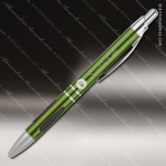 Engraved Metal Green Gloss Ballpoint Pen with Gripper Engraved Metal Writing Pens