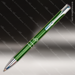 Engraved Metal Green Gloss Ballpoint Pen Engraved Metal Writing Pens