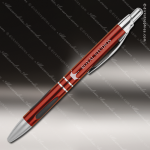 Engraved Metal Burgundy Gloss Ballpoint Pen with Gripper Engraved Metal Writing Pens