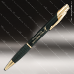 Engraved Metal Gloss Black Ballpoint Pen with Gripper Engraved Metal Writing Pens