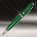 Engraved Metal Green Wide Barrel Stylus Pen Engraved Metal Writing Pens