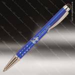 Engraved Metal Blue Gloss Ballpoint Pen with Stylus Engraved Metal Writing Pens