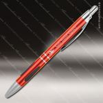 Engraved Metal Red Gloss Ballpoint Pen with Gripper Engraved Metal Writing Pens