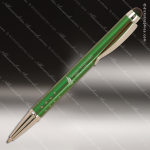 Engraved Metal Green Gloss Ballpoint Pen with Stylus Engraved Metal Writing Pens