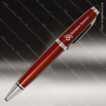 Engraved Metal Burgundy Wide Barrel Stylus Pen Engraved Metal Writing Pens