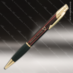 Engraved Metal Burgundy Ballpoint Pen with Gripper Engraved Metal Writing Pens