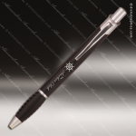 Engraved Metal Matte Black Ballpoint Pen with Gripper Engraved Metal Writing Pens