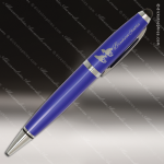 Engraved Metal Blue Wide Barrel Stylus Pen Engraved Metal Writing Pens