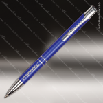 Engraved Metal Blue Gloss Ballpoint Pen Engraved Metal Writing Pens