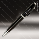 Engraved Metal Black Wide Barrel Stylus Pen Engraved Metal Writing Pens