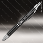 Engraved Metal Black Gloss Ballpoint Pen with Gripper Engraved Metal Writing Pens